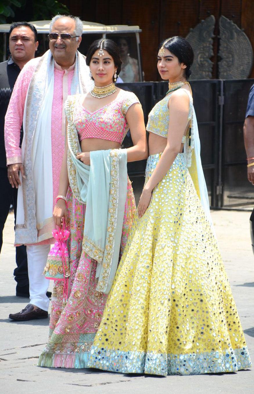 sonam Kapoor wedding, janhvi Kapoor, khushi Kapoor, boney Kapoor, manish Malhotra