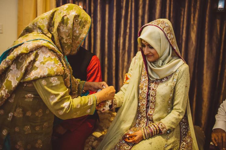 Muslim bride, Imam Zamin ritual