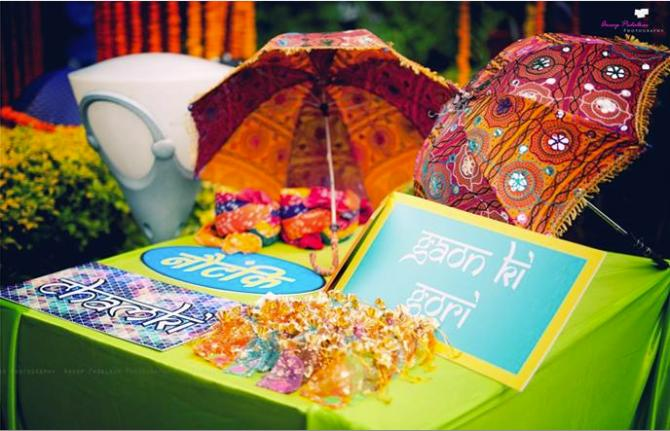 Mehendi Favors, DIY Favors, DIY Parasols, Parasol Décor