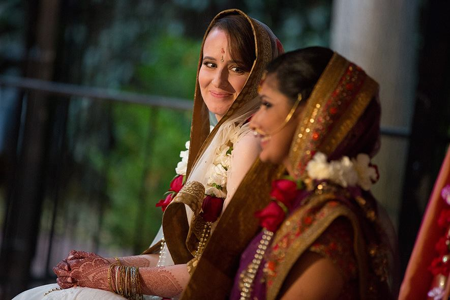 same sex wedding, pride month, katherine and swati