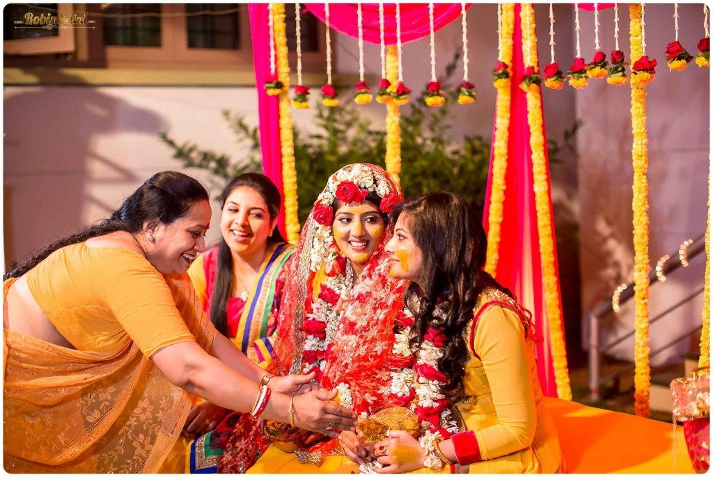 Muslim bride, manjha