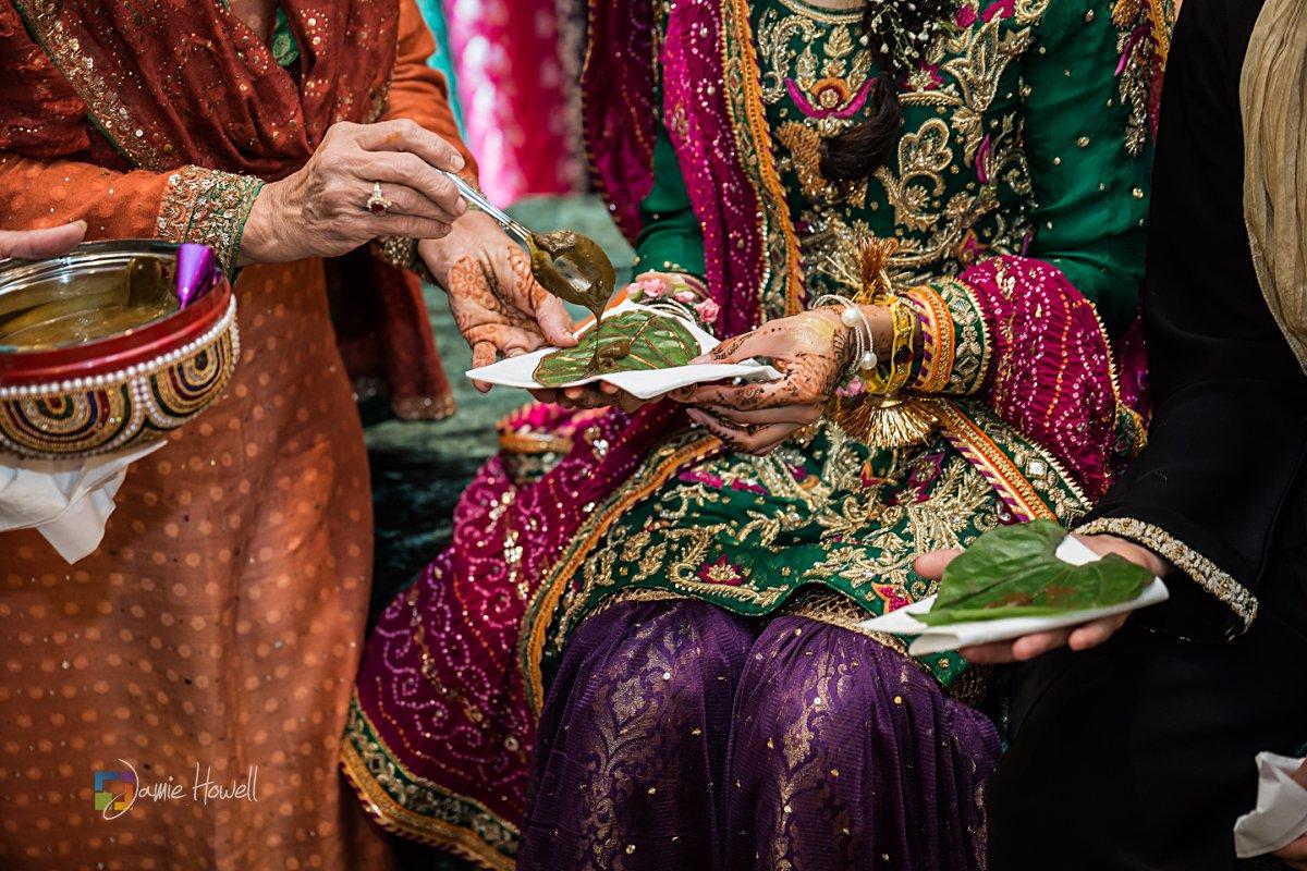 Muslim bride, mehendi ceremony