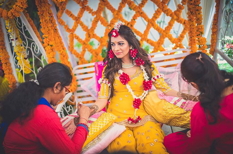 mehendi ceremony, pre wedding ceremony, Astha Jagwani