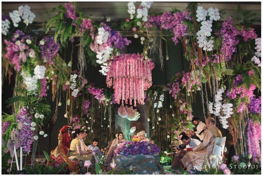 foliage, wedding trends, eco friendly wedding décor, mandap, mandap décor, mandap design