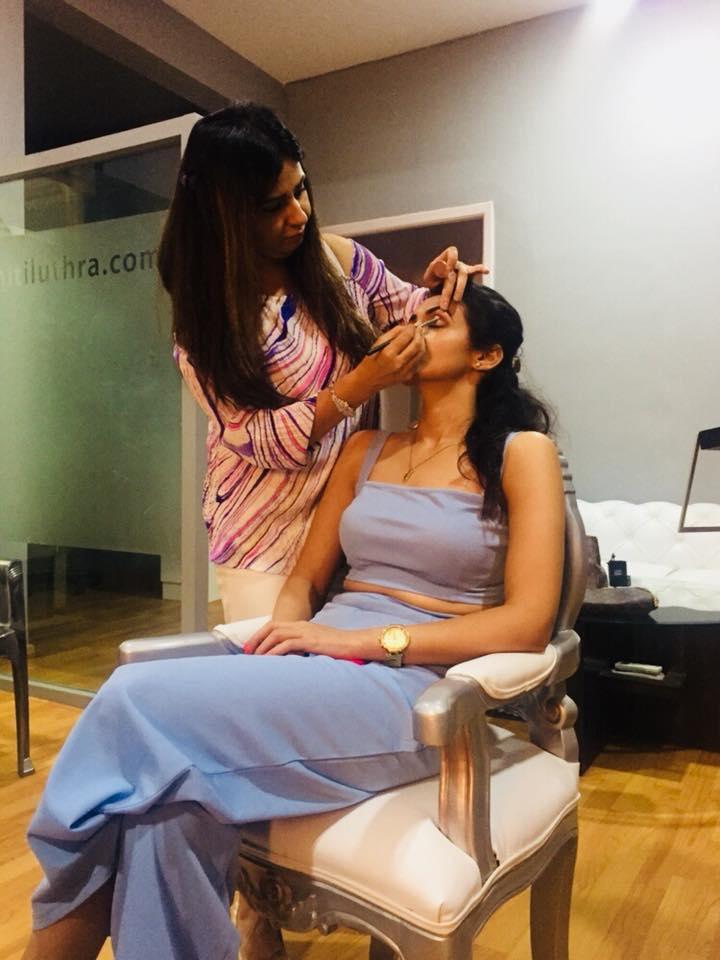 bridal makeup class, niti luthra, eye primer
