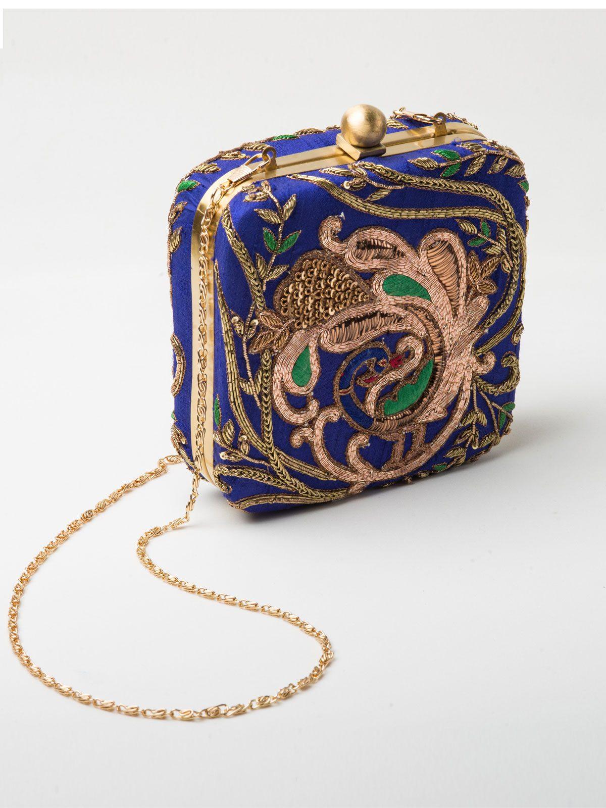 Bridal clutches, Jivaana, navy blue clutch