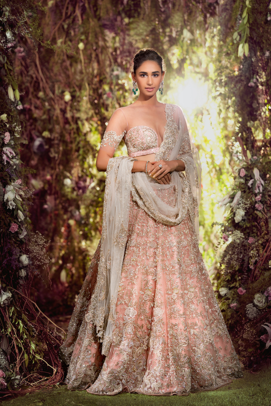 vogue wedding show 2018, shyamal bhumika, bridal wear