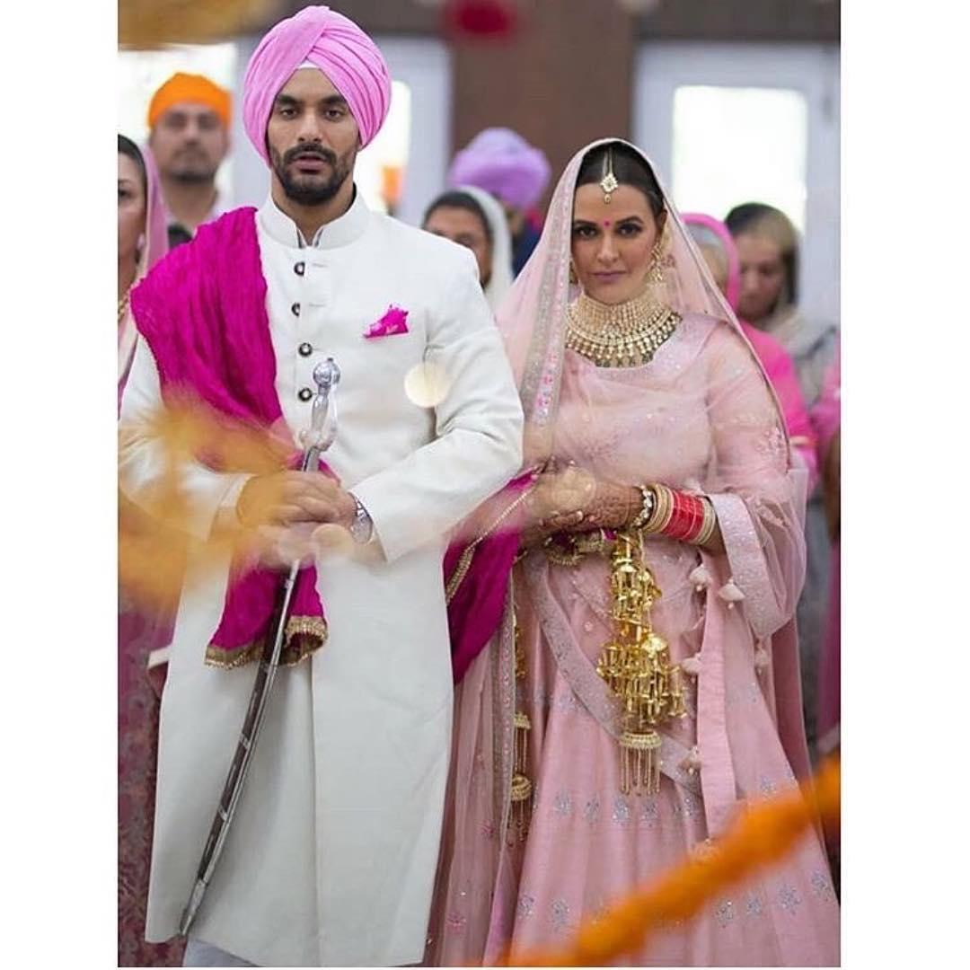 Neha Dhupia, Neha Dhupia Wedding, Bridal Wear