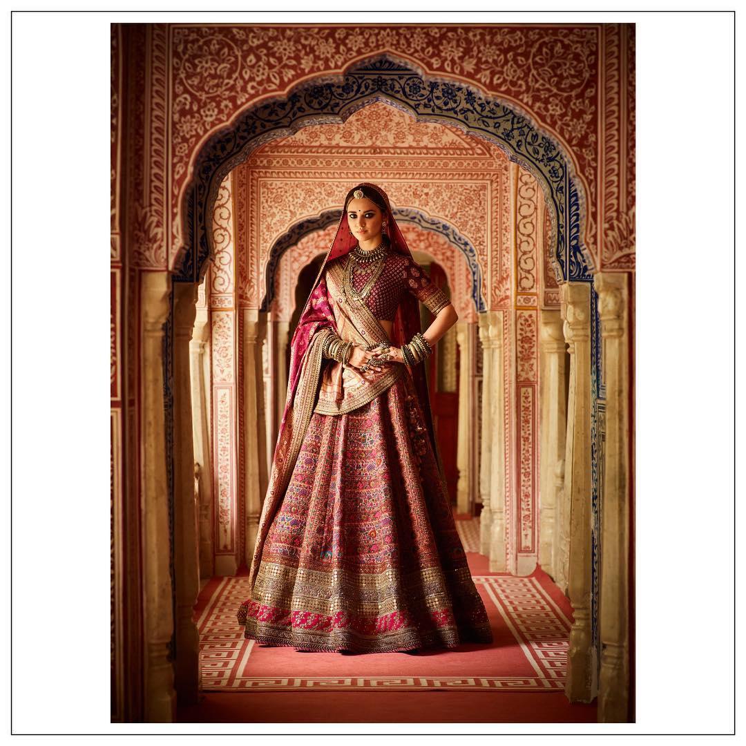 sabyasachi Mukherjee, red bridal lehenga, sabyasachi jewellery, sabyasachi Mukherjee winter collection