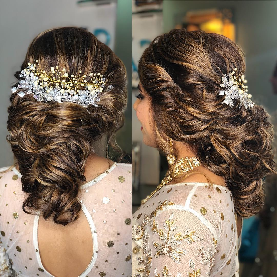 Hairstyles For Wedding Parties: 20 Gorgeous Bridal Hairstyles To Give You A Glam Look At