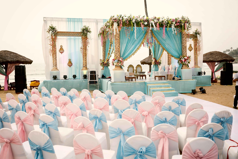beach wedding, mandap decor