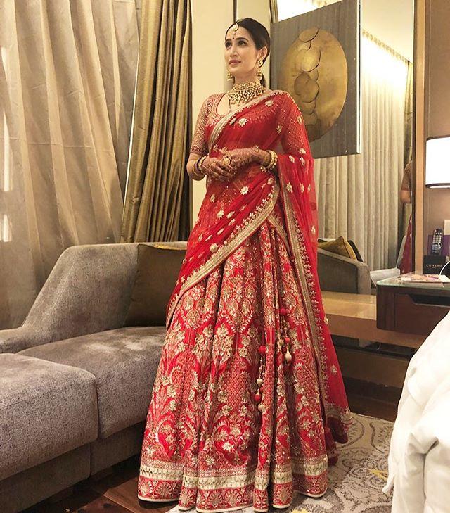 Sagarika Ghatge, Bridal lehenga