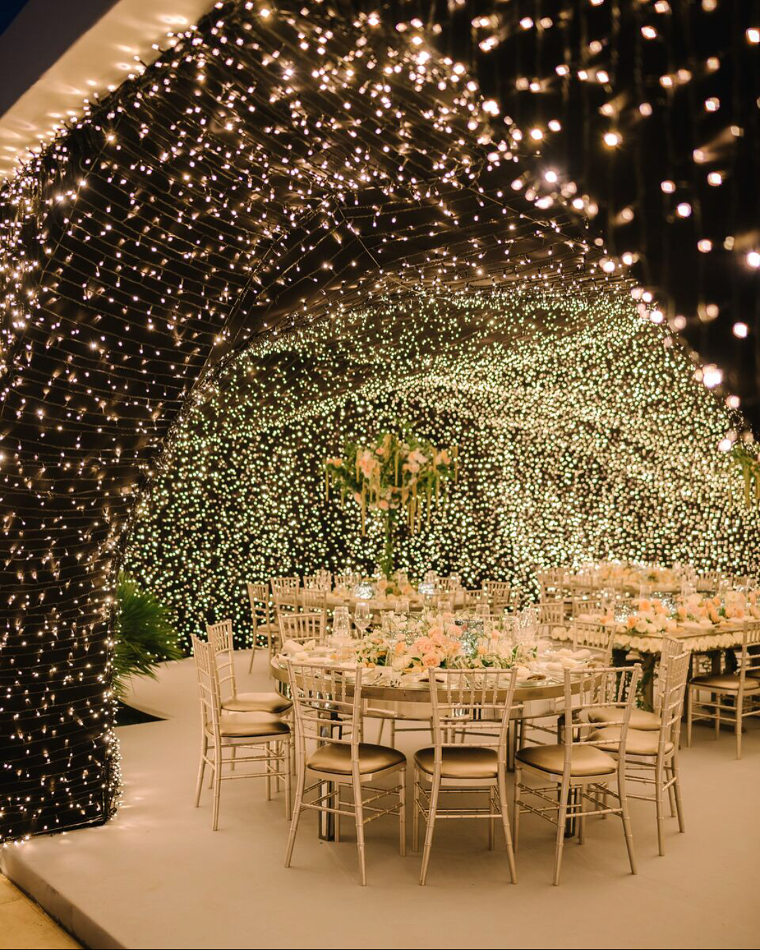 wedding decor, fairy lights