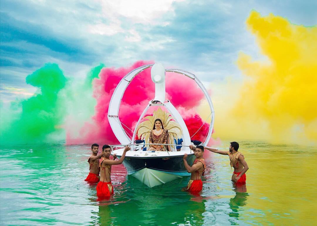 bridal entry, bride entry ideas, bride in boat