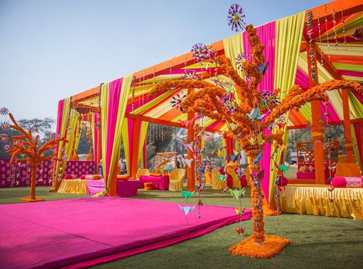 haldi decor, haldi decoration