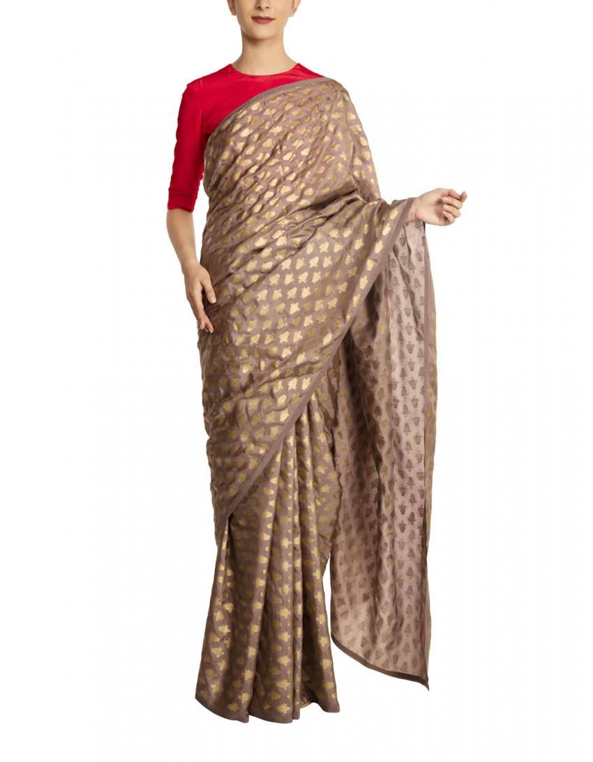 festive wear, festival outfit ideas, affordable festive wear, affordable festival outfit ideas, grey saree, silk saree