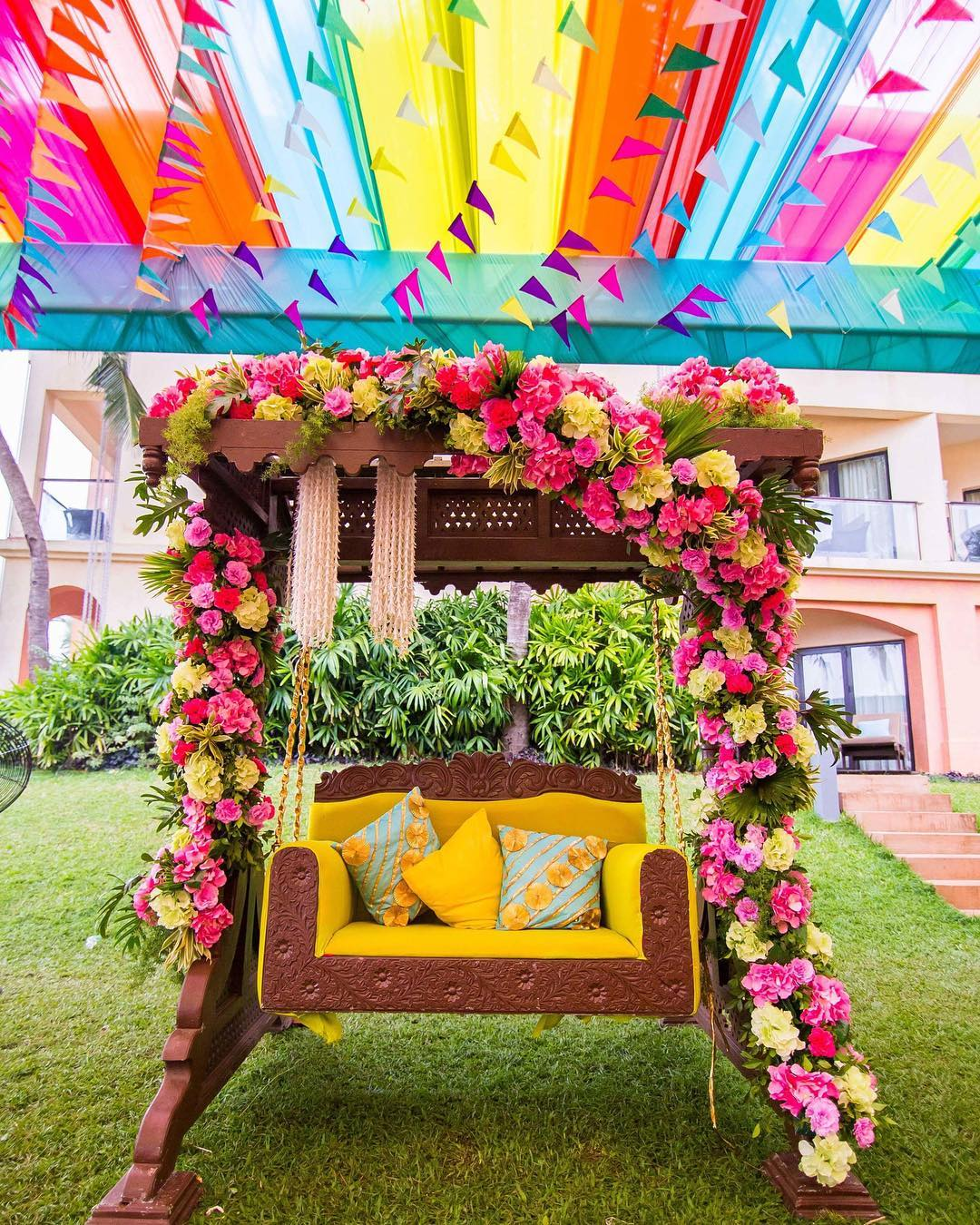 Real Weddings Decorations: Quirky Haldi Decor Ideas To Steal From Real Weddings