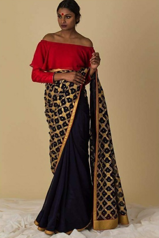 bridesmaid outfits, modern saree ideas, The Silk Tree by Darshan K Dhupia, indian wear