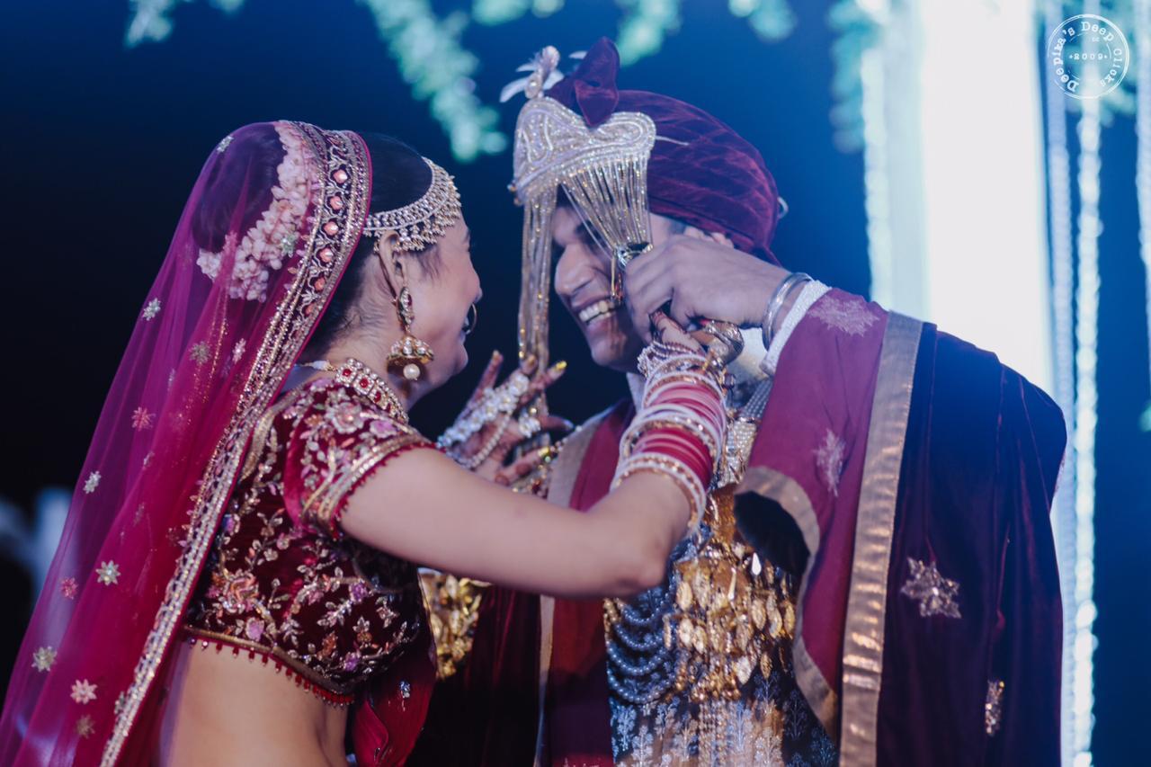 Prince Narula Yuvika Chaudhry Wedding Bridal Lehenga