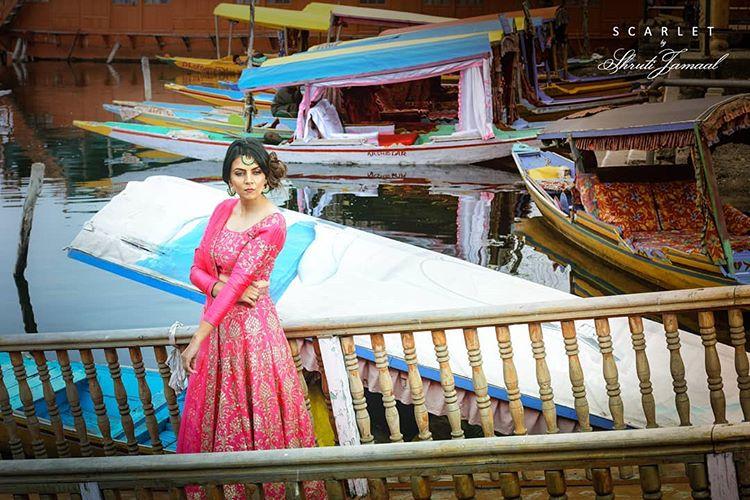 bridal outfit, bridal lehenga, pink lehenga, Shruti Jamaal, designers in Punjab
