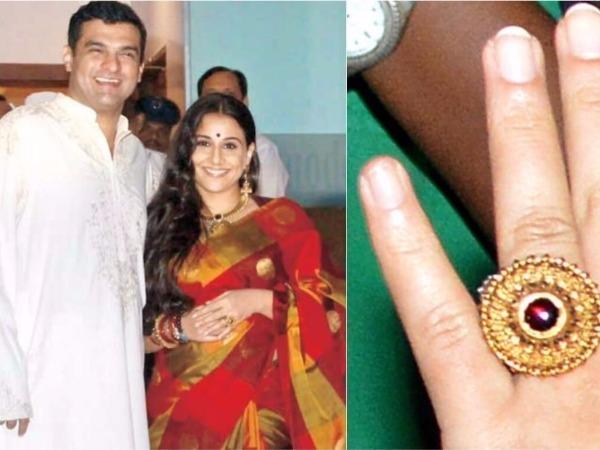 Vidya Balan, expensive engagement ring, celebrity engagement ring, engagement ring ideas