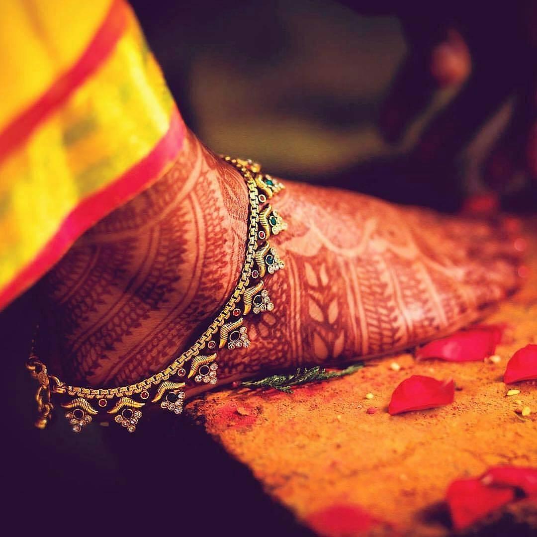 Navratna Payal (Anklet) design