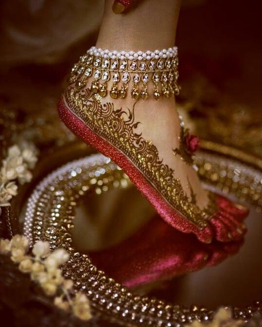 Layered Pearls Payal design