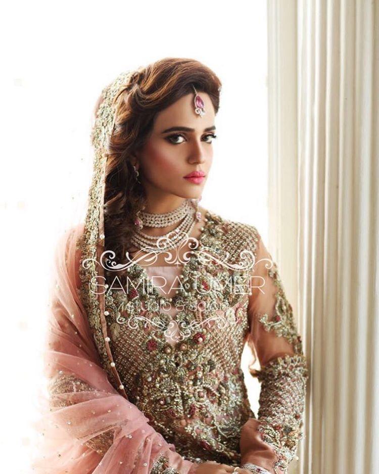 bridal hairstyle, pakistani bridal hairstyle