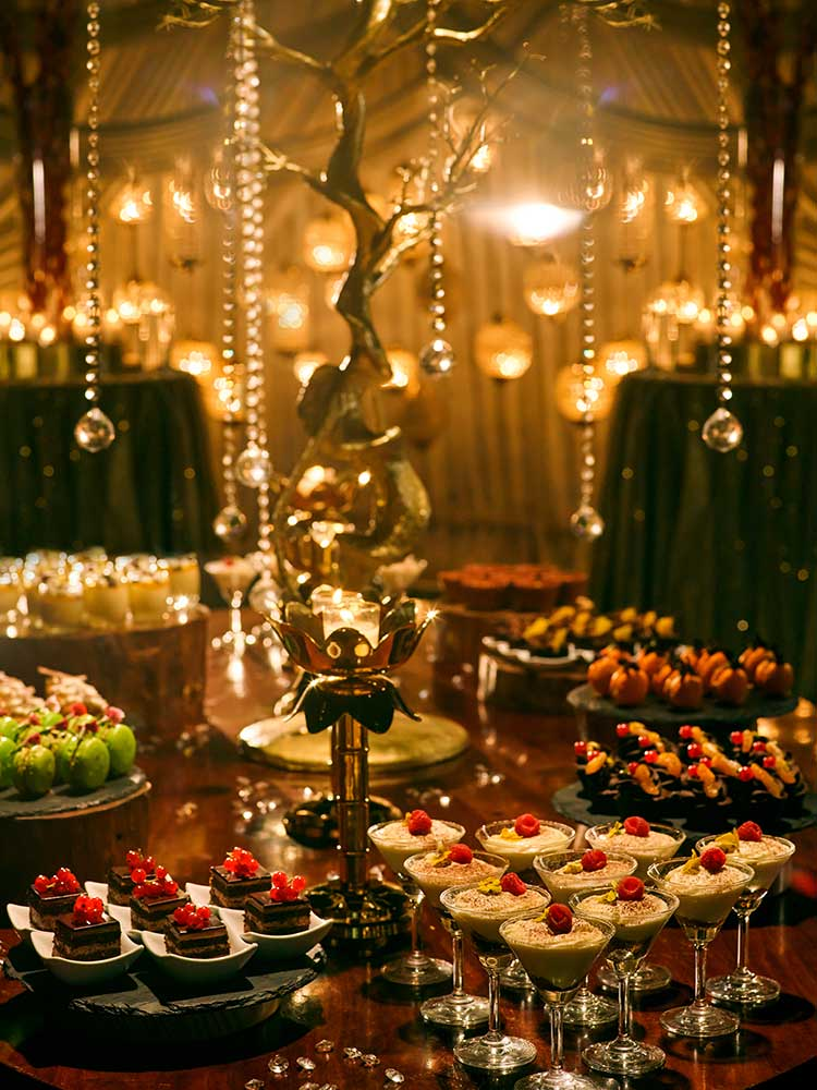 wedding decor, dining table, desserts, food, wedding food