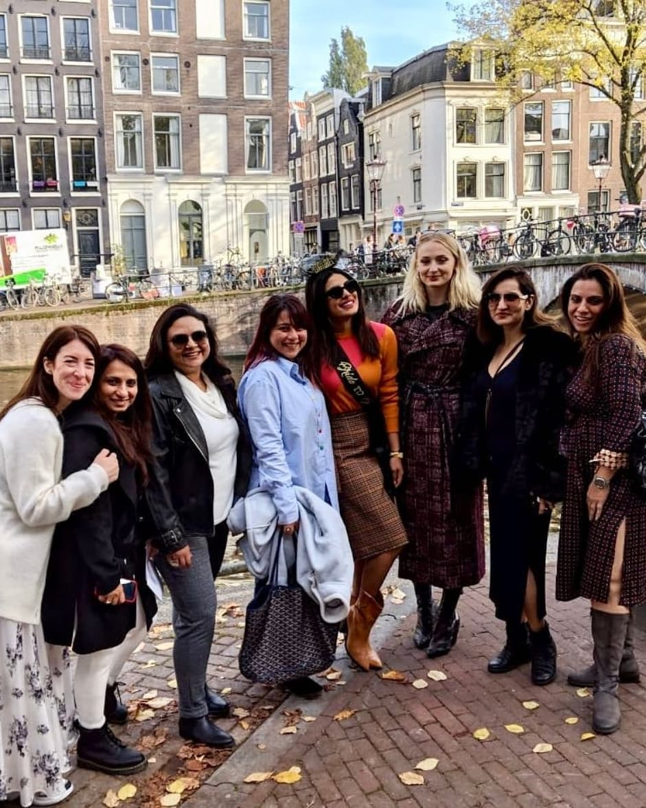 priyanka chopra, priyanka chopra bachelorette party, priyanka chopra wedding, sophie turner, parineeti chopra, priyanka chopra bachelorette,
