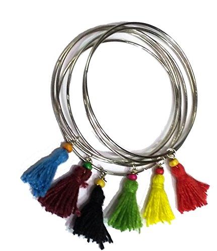 mehendi favors, unique mehendi favors, charm bracelet, colourful bracelet