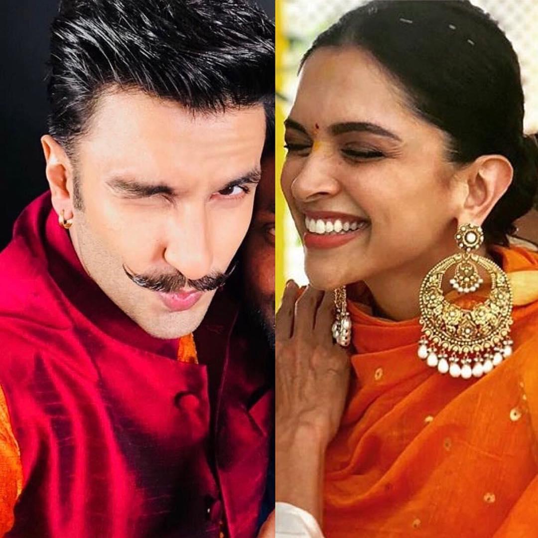 Deepika Padukone, Ranveer Singh, DeepVeer wedding, bollywood couple, South Indian bride, Punjabi groom