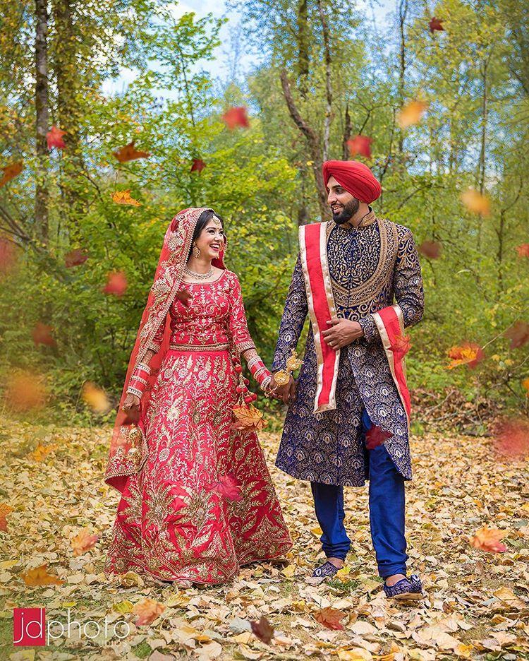 indian weddings, wedding photography, Canada, indian weddings in Canada, couple portrait, groom outfit, bridal outfit, indian bride, indian groom, bridal lehenga, JD Photos studios