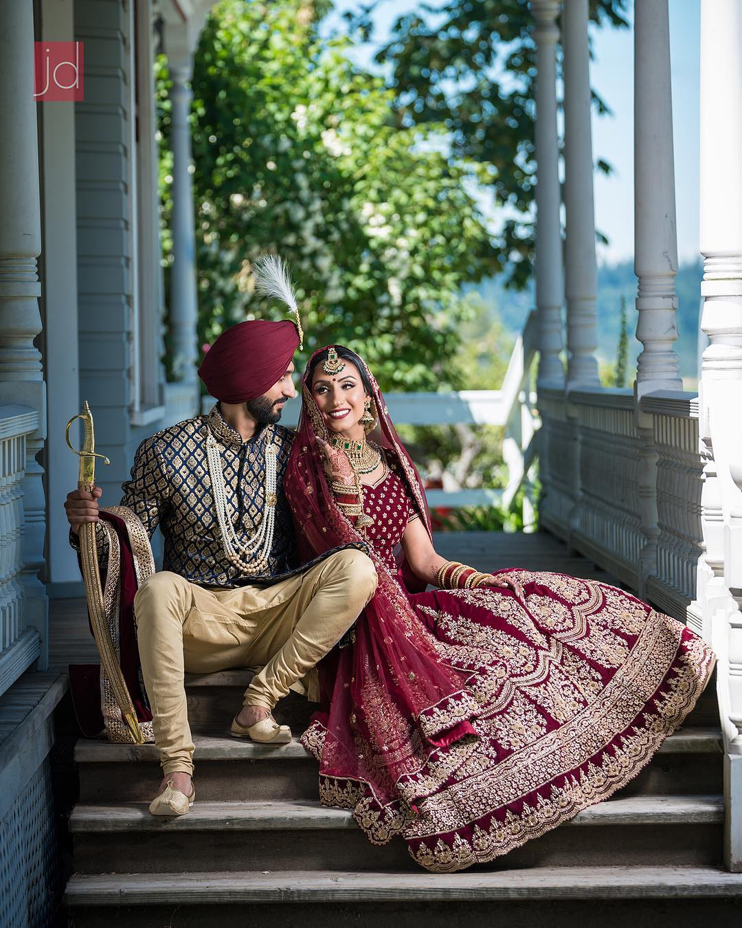 Indian wedding photographers in Canada, indian weddings, wedding photography, Canada, indian weddings in Canada, couple portrait, groom outfit, bridal outfit, indian bride, indian groom, bridal lehenga, JD Photos studios