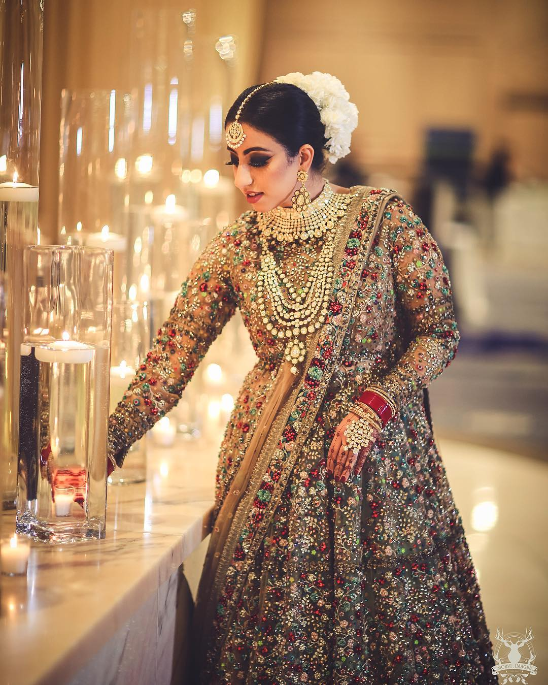 bridal lehenga, full sleeve blouse