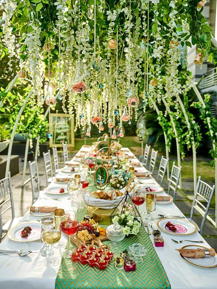 wedding decor, dining table, desserts, food, wedding food