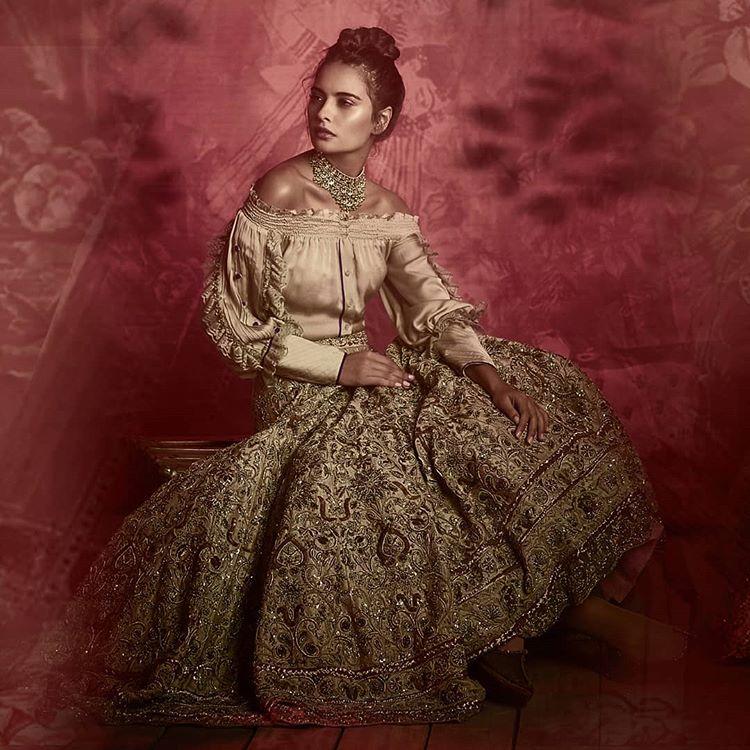 winter lehenga, indo-western blouse, indo-western choli