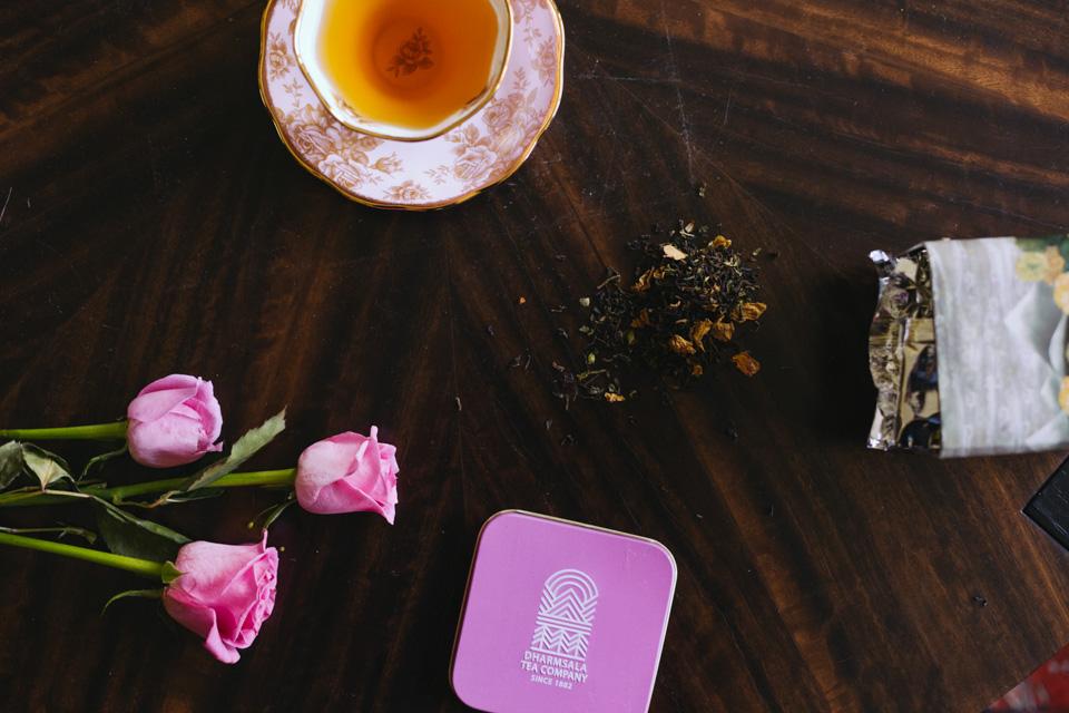 rose tea, green tea, bridal detox