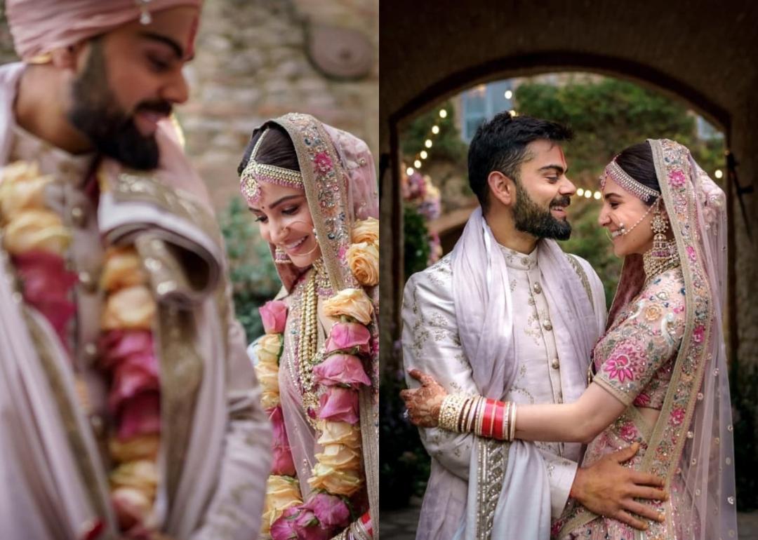 Virat Amp Anushka Are Celebrating Their 1st Wedding
