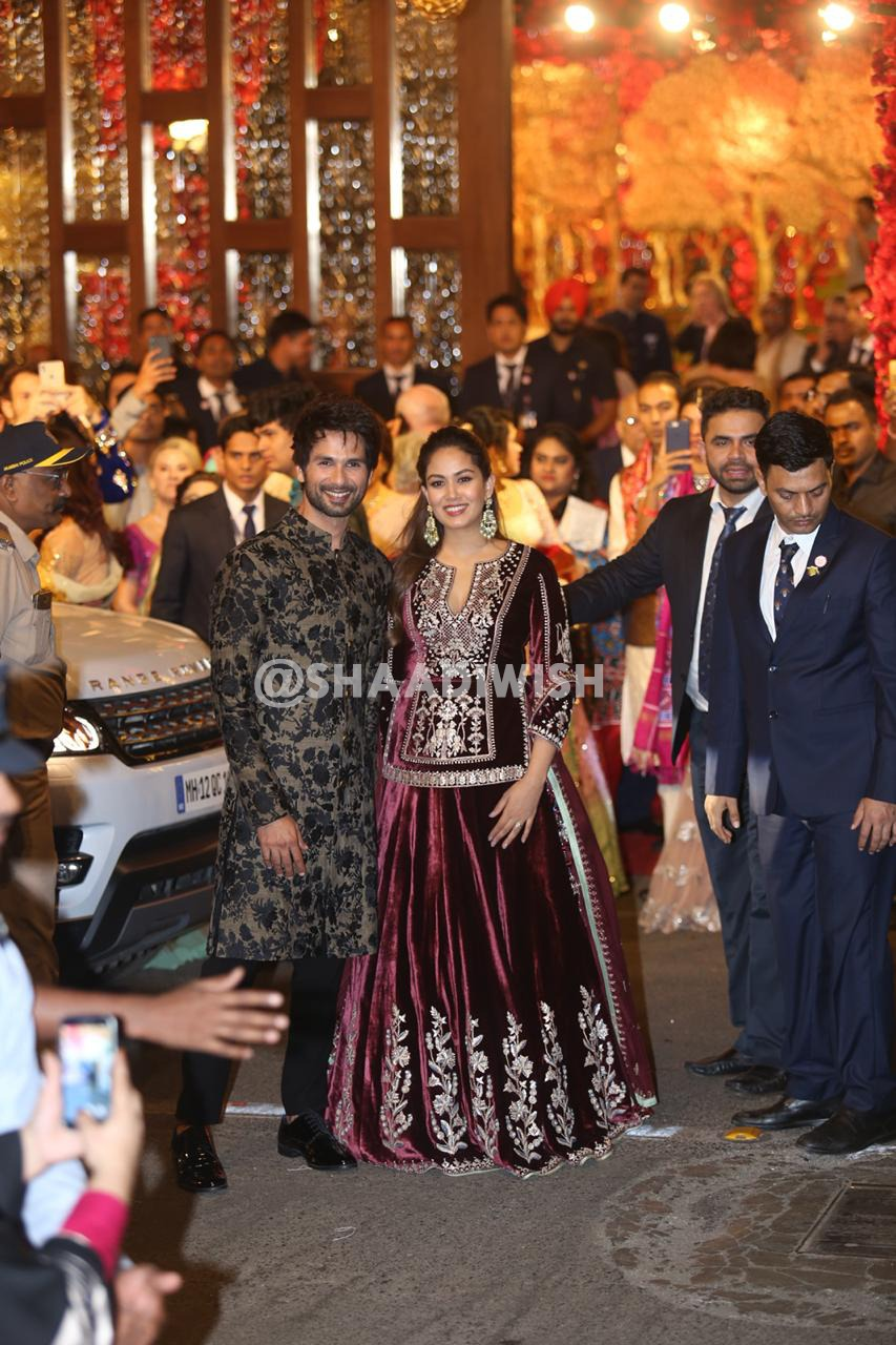 Shahid Kapoor, Meera Kapoor, wedding look