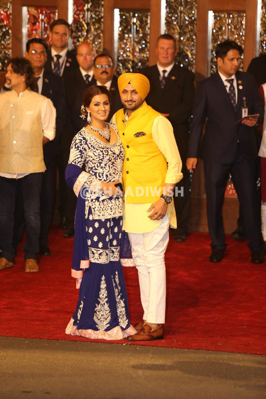 Harbajan Singh, Geeta Basra, Wedding look