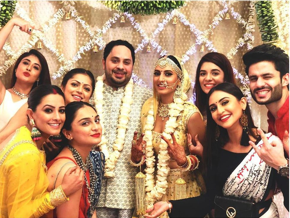 wedding day, wedding guests, groom wear, bridal wear, bridal lehenga, bridal jewellery, Drashti Dhami, Anita Hassanandani, Rohit Reddy, Krystle Dsouza, Kritika Kamra