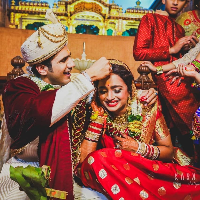Parul Chauhan wedding, couple portrait, wedding couple, wedding photography, groom wear, bridal wear