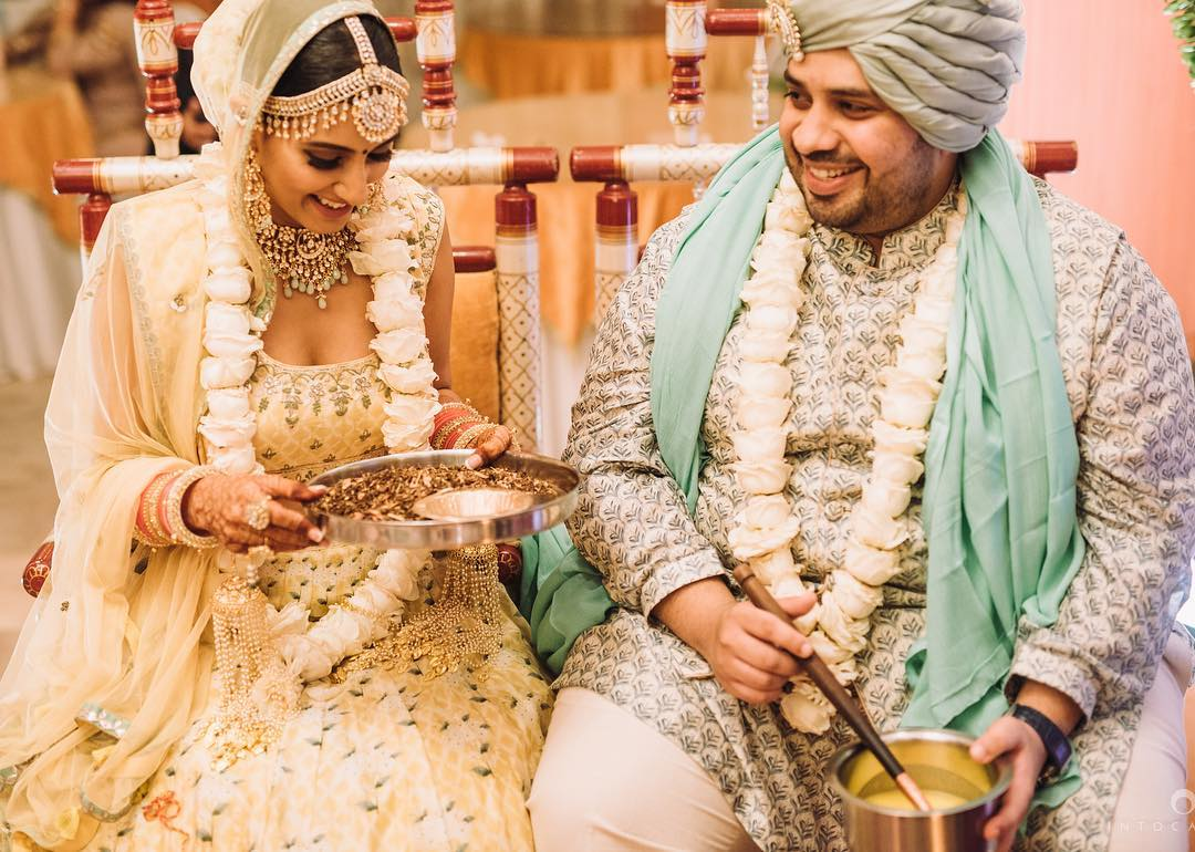 wedding day, wedding guests, groom wear, bridal wear, bridal lehenga, bridal jewellery, Kabir Chopra, Additi Gupta