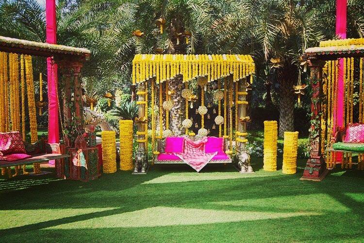 wedding decor ideas, swing decor ideas