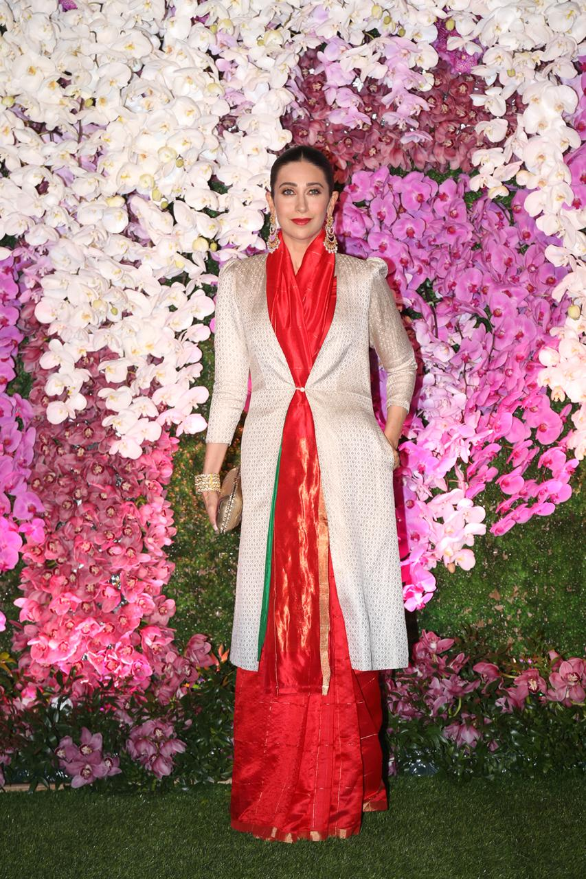 Karishma Kapoor At Akash Ambani and Shloka Mehta Reception