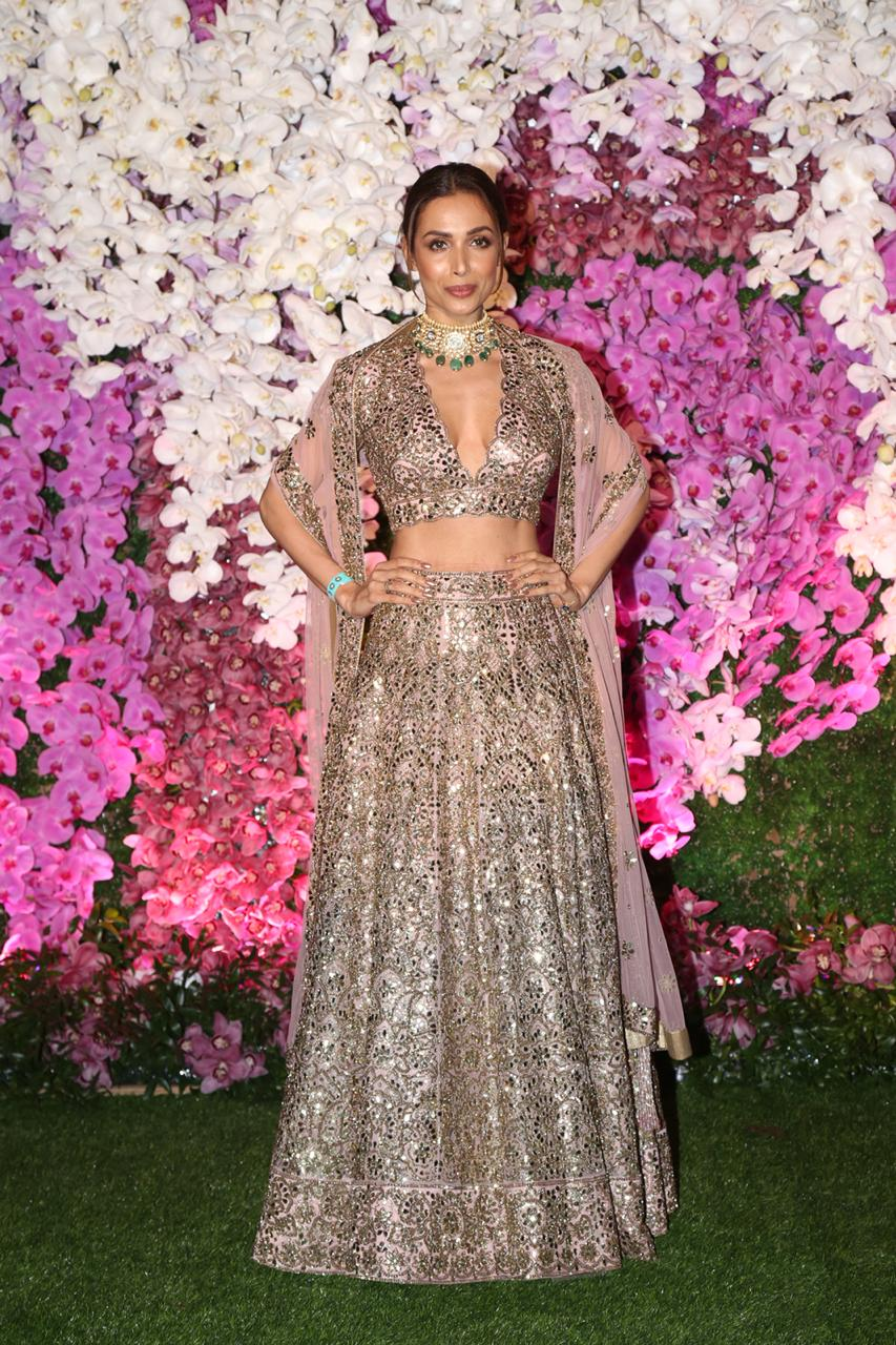 Malaika Arora Khan At Akash Ambani and Shloka Mehta Reception