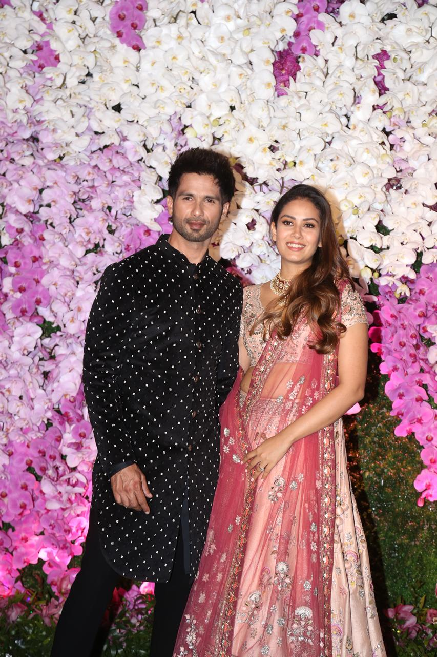 Shahid Kapoor and Mira Rajput At Akash Ambani and Shloka Mehta Reception