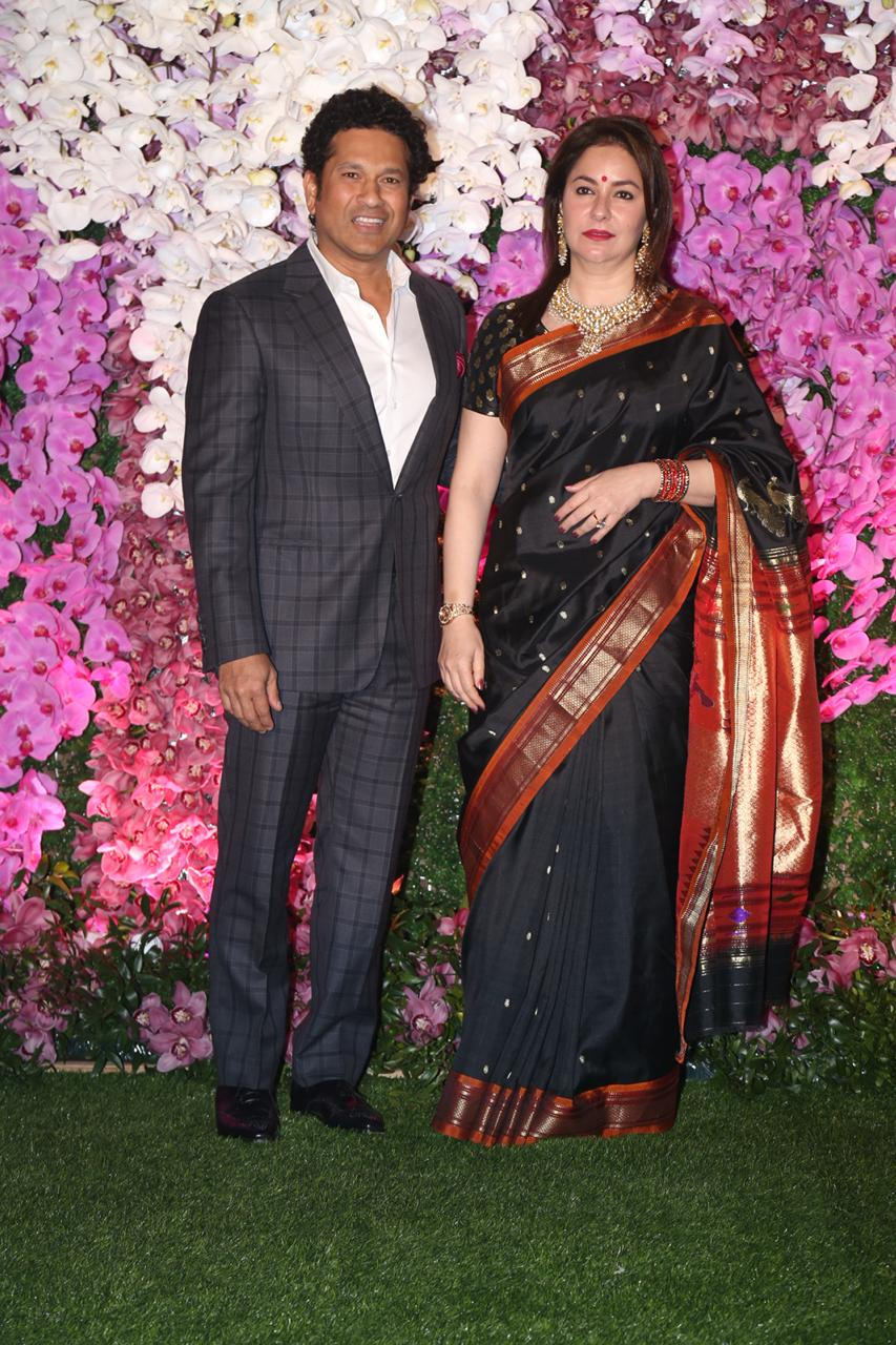 Sachin Tendulkar At Akash Ambani and Shloka Mehta Reception