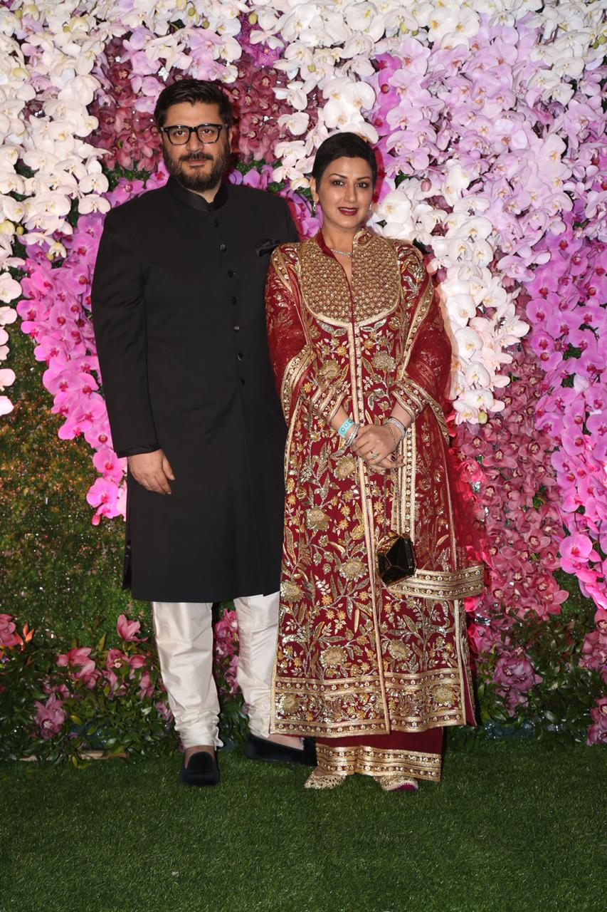 Sonali Bendre and Goldie Behl At Akash Ambani and Shloka Mehta Reception